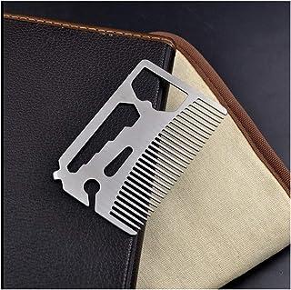 (コーム、ボトルオープナー、レンチ、スクリュードライバー、ブレードブレイクアウェイ)2個入り多機能ユーティリティコームがお財布に収まります モデリングツール (色 : Silver)