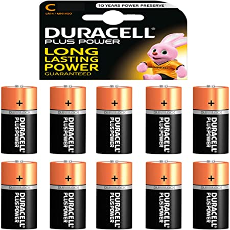 Duracell Mn1400b6 Plus Power Batterie C Größe 6 Pack Elektronik
