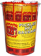 Herb's Pickled Hot Sausages 0.7oz Individually Wrapped - 24-ct Pickled Hot Sausages Per Cup