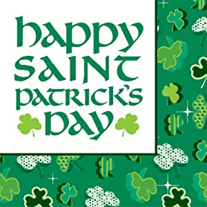 Creative Converting 18-Count Beverage Napkins, Shamrock Party