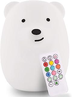 LumiPets Baby Night Light Nursery Lamp Bear - USB Rechargeab