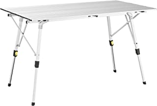 Uquip Variety L Aluminium Camping Table - Large Size - Height Adjustable