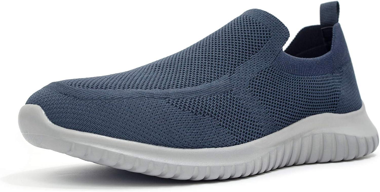 LANCROP Men's Comfortable Free Shipping Cheap Bargain Gift Walking Shoes Loafer Knit Casual - Sli Bargain sale
