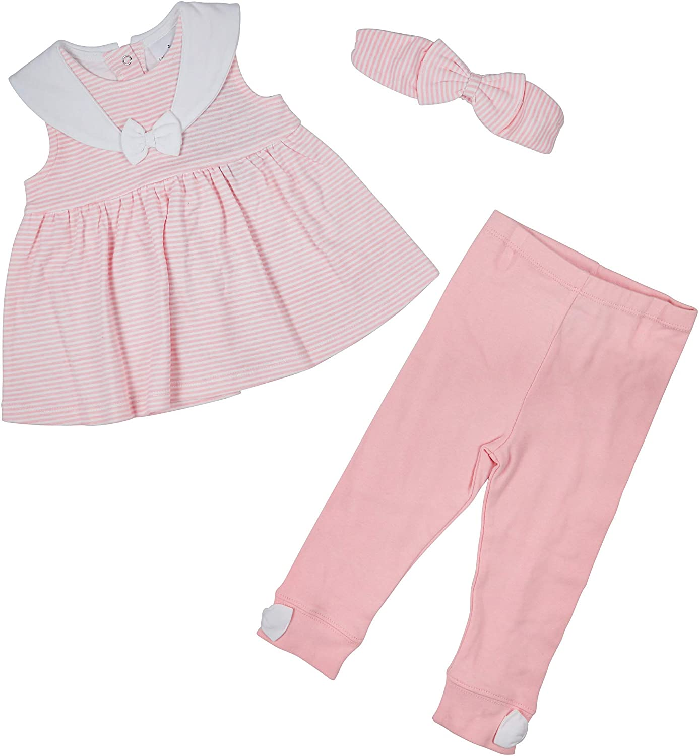 Laura Ashley Infant Baby Girl 3-Piece Pants Baltimore Mall Top and Ruffle with Jacksonville Mall