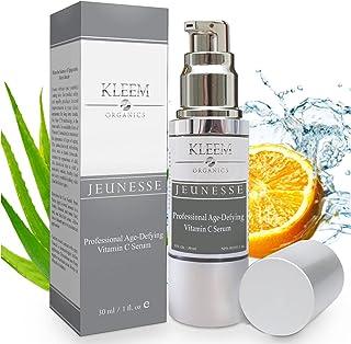 Kleem Organics Vitamine C Serum voor Gezicht met Hyaluronzuur & Vitamine E | Natuurlijk Anti Aging Huid Serum | Anti Rimpe...
