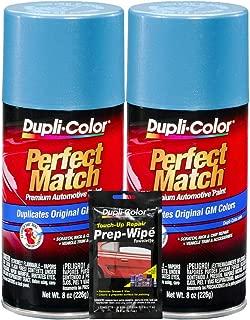 Dupli-Color Light Blue Metallic Exact-Match Automotive Paint for GM Vehicles - 8 oz, Bundles with Prep Wipe (3 Items)