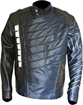 New Mens Superhero Costume Jacket Blue Biker Style Jacket