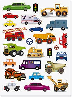 Cars and Trucks Stickers - 50 Stickers