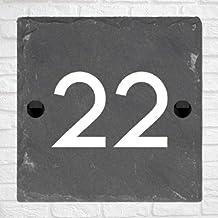 Be-Creative Rustieke natuurlijke leisteen huis poort teken gepersonaliseerd naambord - (27cm x 20cm)