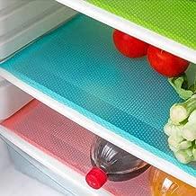 Snner CU-SA0490 4 Tapis de réfrigérateur, bactériens, Anti-moisissures, Plastique, Bleu, 4pcs / Set