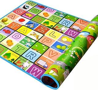 SIMPVALE alfombra de bebé espuma juego juguete actividades para bebé niño Age diseño dibujo alfabeto números animales 180x120x0.5 cm