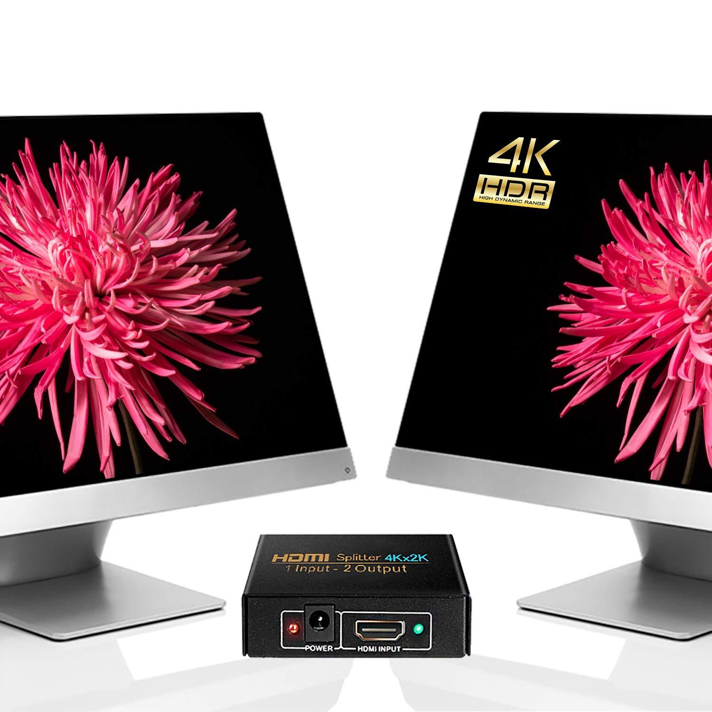 Splitter HDMI, 2 Salidas NIERBO HDMI Duplicator Compatible con 4K 3D 1080p 1 Entrada x 2 Salidas Distribuidor HDMI 1 x 2 para PS4 PS3 Xbox y más Dispositivos HDMI: Amazon.es: Electrónica