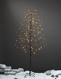 LIGHTSHARE 5Ft 200L Lighted Star Light,Warm White, Brown Branch