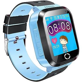 Reloj para Niños 1.44'' Niños Inteligente Relojes GPS Tracker Pulsera reloj inteligente SOS Pantalla Táctil Kid Safe anti perdido Monitor Compatible