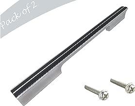 Aquieen Aluminium Wardrobe Cabinet Pull Handle AQ - 721 (448 MM, Chrome WENGE)
