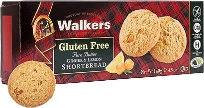 Walkers Shortbread Gluten-Free Pure Butter Ginger & Lemon Shortbread, 4.9 Ounce Box (Pack of 6)