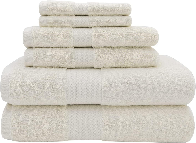 2021 6 Piece Towel Latest item Set 700 Ivory Cotton Combed GSM