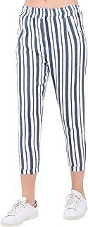 Bonamaison Women's TRLSC101005 Casual Pants, White, M