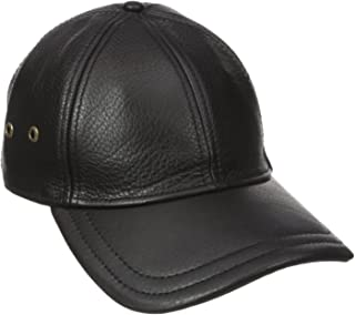 Best mens black leather baseball cap Reviews