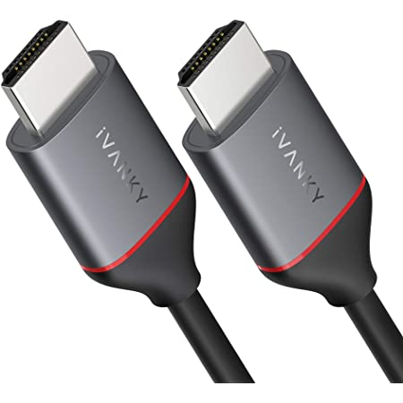 Cavo HDMI 4K UHD【2M/6.5ft】, iVANKY Cavo HDMI 2.0, Compatibile con HDCP2.2/1.4, 4K@60HZ, Ultra HD, 3D, Full HD 1080p, HDR, Arc, Dolby Audio Alta velocità con Ethernet, PS3/PS4/Xbox/HDTV/PC