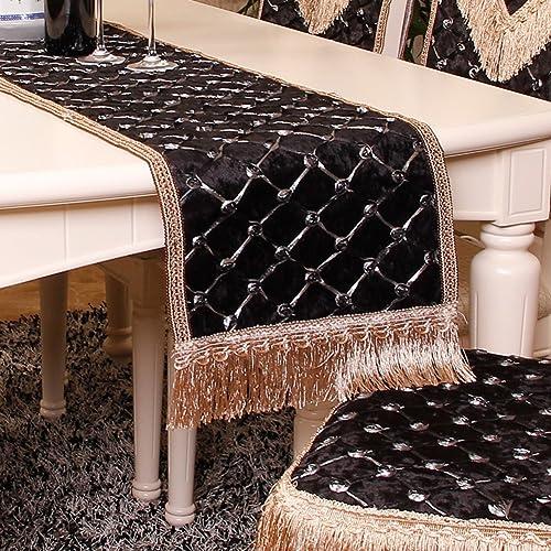European-style Luxus Tischl er Tischtuch Westlichen Tischdecke Mode Coffee Table Runner-E 33x240cm(13x94inch)