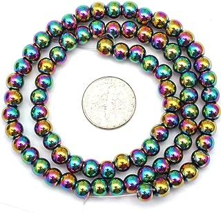 6mm Round Multicolored Hematite Gemstone Beads for DIY Jewelry Making 15