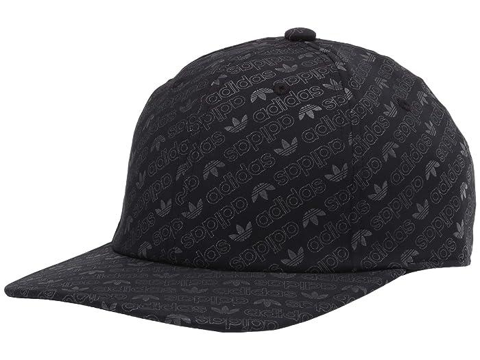 adidas Originals  Originals Reflective Monogram Unstructured Cap (Black/Reflective) Caps
