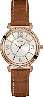 Guess South Hampton Women's Silver Dial Leather Band Watch - W0833L1