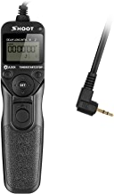SHOOT RS-60E3 LCD Timer Remote Controller Shutter Release Cord Trigger for Canon EOS 700D 650D 600D 550D 500D 1100D 60D 70D, PowerShot G16 G15 G12 G11,T6i, T6S, T5 T5i T4i T3i T3 T2i T1i XT XTi XSi