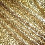 Werthers Stoffe Stoff Meterware Pailletten Gold Glitzer
