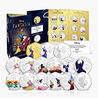 Fantasia Disney Coin Collection - Coins + Album to Celebrate The Magic of Disney - 14 Coins Featuring Fantasia, The First ...