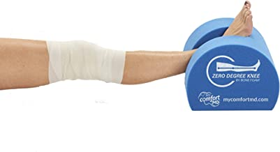 Zero Degree Knee Pillow - Post Surgery Knee Pillows - Knee Foam Wedge - Knee Rest -