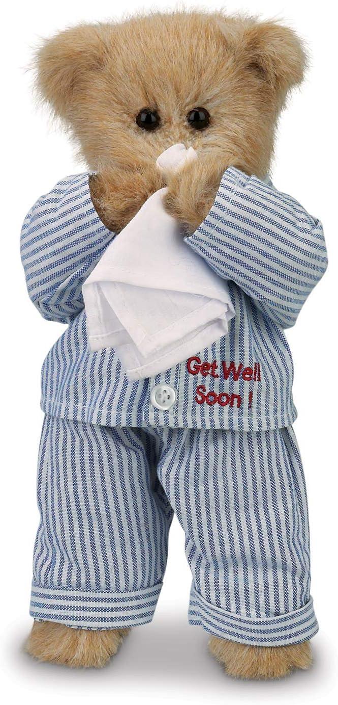 Bearington Illie Willie Plush Stuffed Animal Get Well Soon Teddy Bear, 10 inches