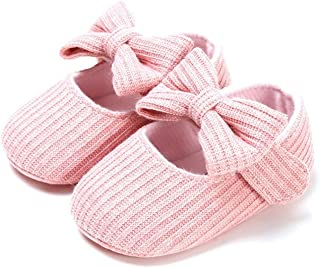 Toddler First Walkers Newborn Baby Girl Anti-Slip Casual Walking Shoes Soft Soled First Walkers (Baby Age : 13-18 Months, ...
