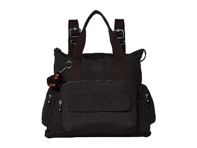 Kipling Alvy 2-in-1 Convertible Backpack (True Black) Backpack Bags