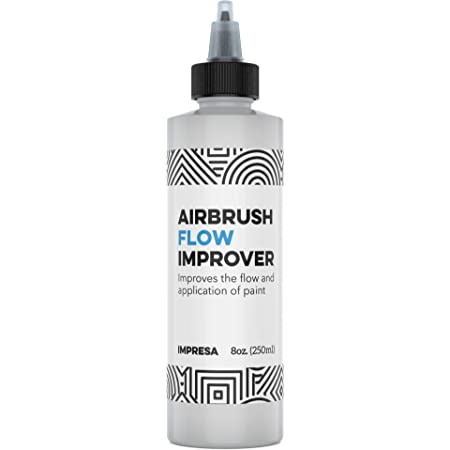 Airbrush Flow Improver Paint Set 8oz (250 ml) Reduce Clogs & Dry Needle Tips by Impresa
