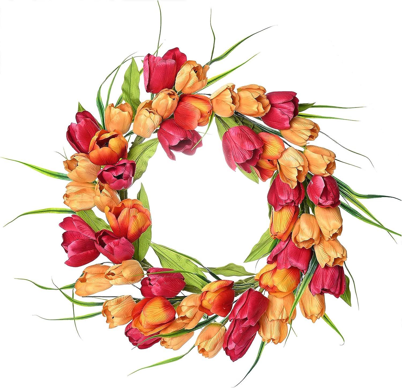 Foeyyir Artificial Tulip Wreath 19