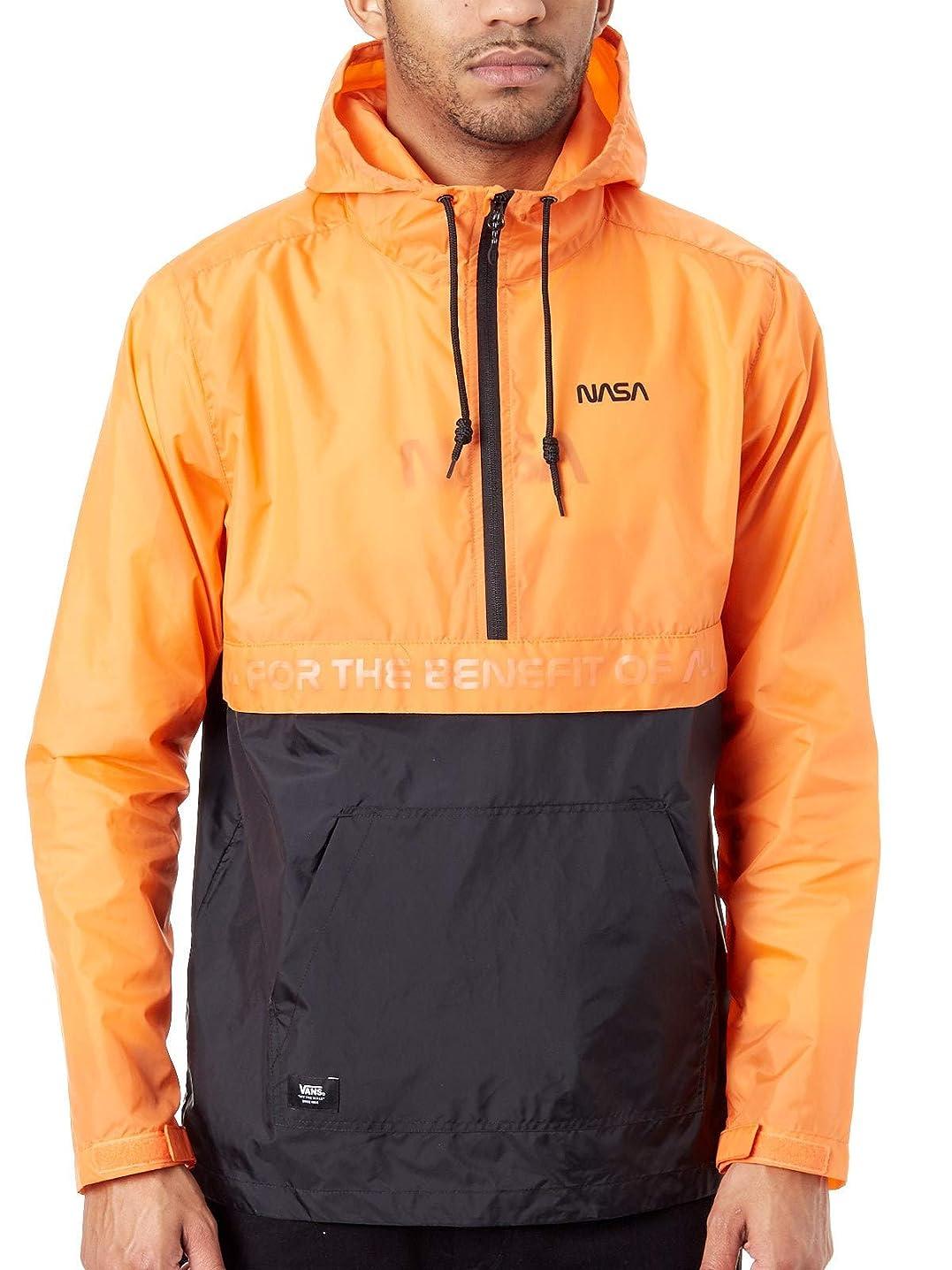 Vans x Space Voyager NASA Windbreaker Anorak Hoodie Orange Black