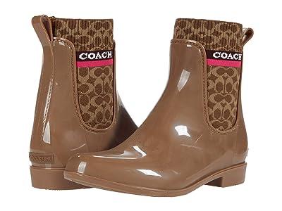 COACH Rivington Rain Bootie (Otter Rubber) Women