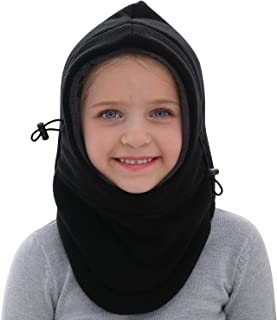 GSPY Balaclava, Kids Balaclava Face Mask for Cold Weather, Adjustable Windproof Ski Mask Snow Winter Hat for Boys & Girls, Thick Warm Face Cover Neck Warmer Fleece Hood Cap for Outdoor Sports