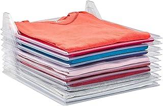 Jukmen T-Shirt Organizer Folding Clothing Drawer Stackable Easy Tray Closet Effortless Folder Board Clothes Storage Divider Folded Organization Laundry Filing System (Pack of 10)