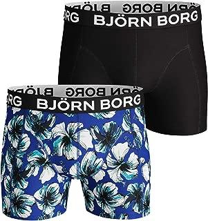 Blue//Black Bjorn Borg 2-Pack Hawaii Sunset /& Solid Mens Boxer Trunks