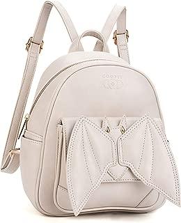 Mini Backpack, COOFIT Bat Purse Gothic Backpack Purse Gothic Bags Mini Backpack for Women
