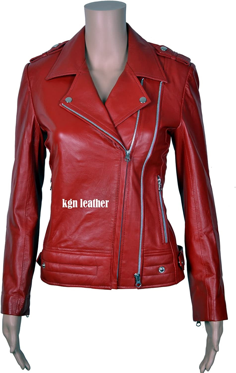 GENUINE SOFT INDIAN LAMBSKIN WOMENS LEATHER JACKET 06