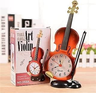 Nazala - Desk Table Clocks - Unique Instrument S Table Clock Student Violin Decor Fiddle Quartz Alarm Desk Plastic Craft - Clock Table Desk DeskDecor Watch Clock Desk Desk Clock Antique Stopwat