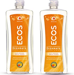 Earth Friendly Products ECOS Dishmate Dish Liquid, Apricot 25 oz. (Pack of 2)