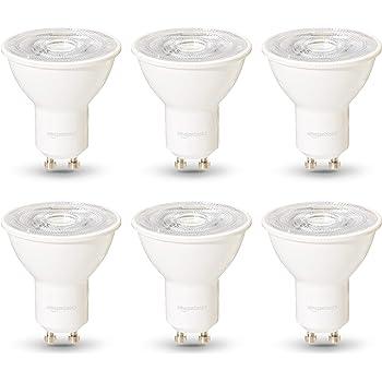 AmazonBasics Professional - Bombilla de foco LED GU10, equivalente a 50W, luz blanco cálido, regulable - juego de 6