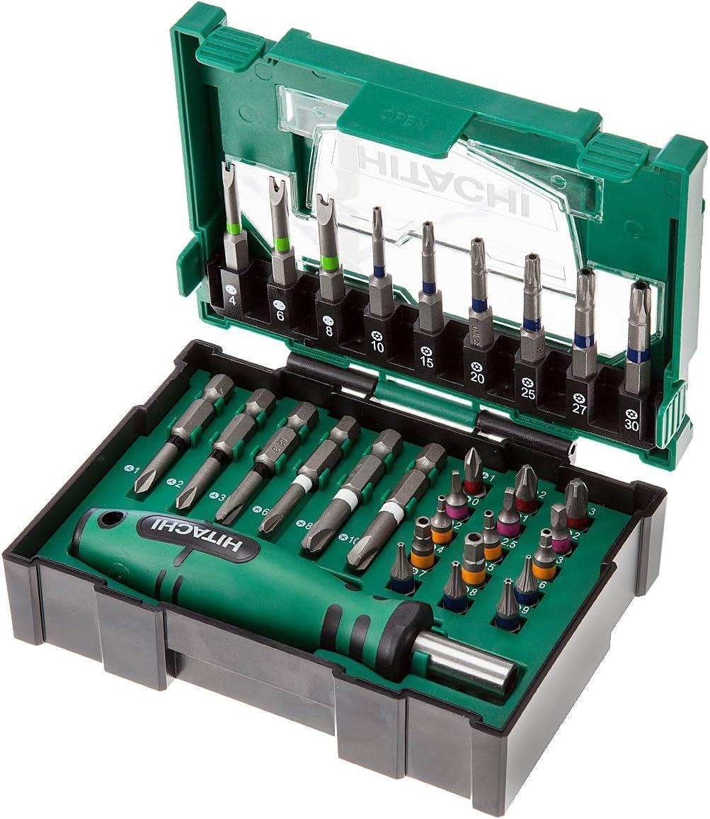 Hikoki 40030023 - apilables para juego de puntas de seguridad (31 piezas)