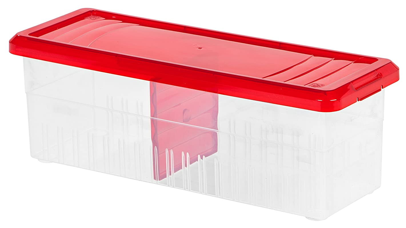 IRIS USA, RB-1, Ribbon Storage Box, Red, 3 Pack