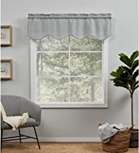 Exclusive Home Curtains EH8472-02-1-16R Loha Light Filtering Rod Pocket Scalloped Valance, 54X16, Dove Grey